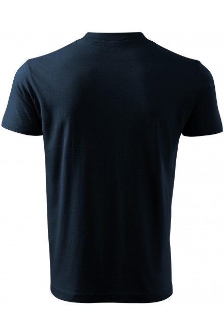 Navy blue t-shirt with short sleeves, medium weight