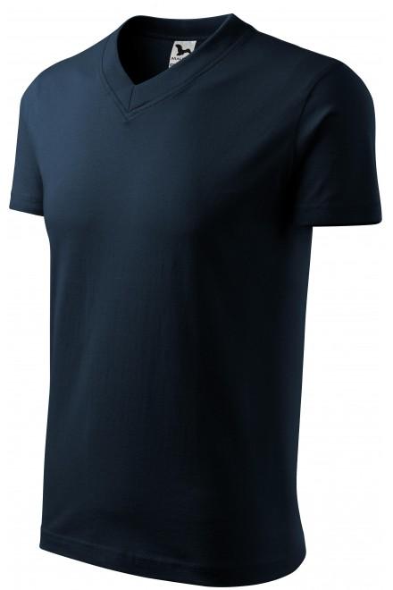 T-shirt with short sleeves, medium weight Navy blue