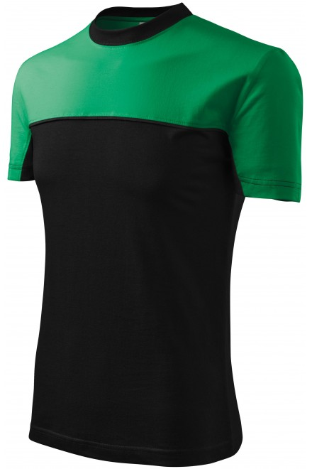 T-shirt with two colors Black