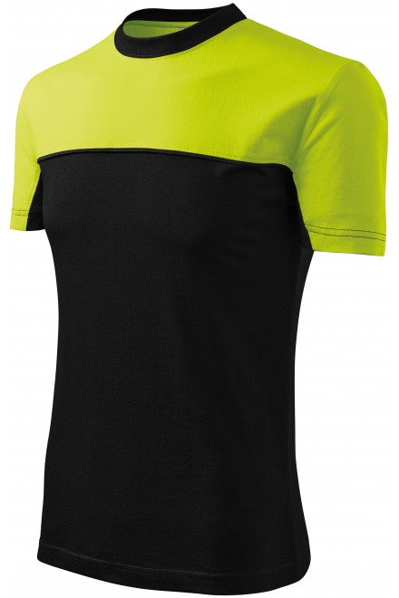 T-shirt with two colors Lime green