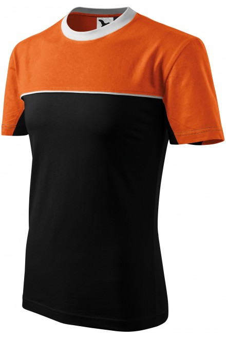 T-shirt with two colors Orange