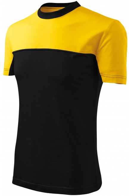 T-shirt with two colors Yellow