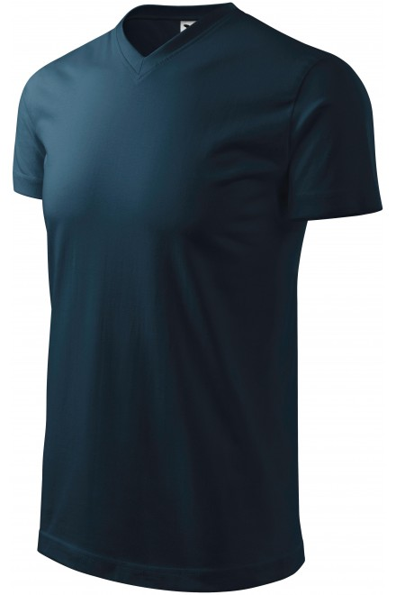 T-shirt with short sleeves, coarser Navy blue