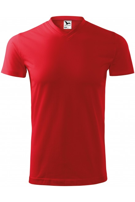 Red t-shirt with short sleeves, coarser