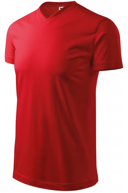 T-shirt with short sleeves, coarser Red