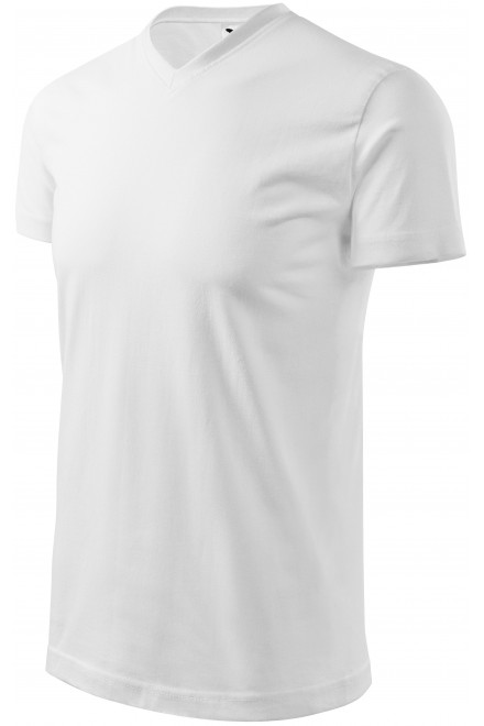 T-shirt with short sleeves, coarser White