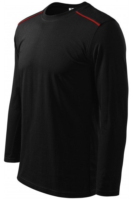 Shirt with long sleeves Black