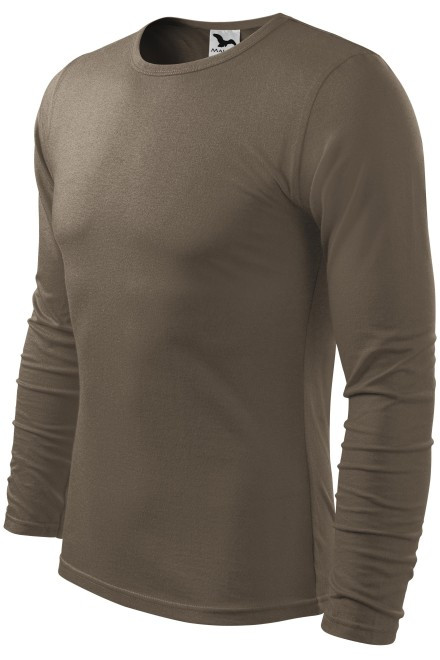 Men's long sleeve T-shirt Army