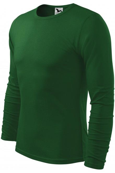 Men's long sleeve T-shirt Bottle green