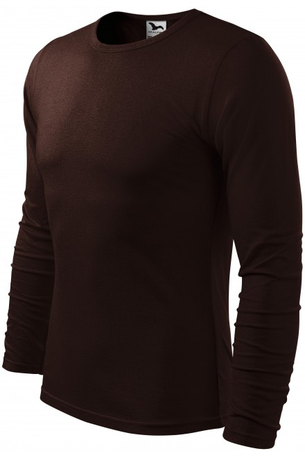 Men's long sleeve T-shirt Coffee