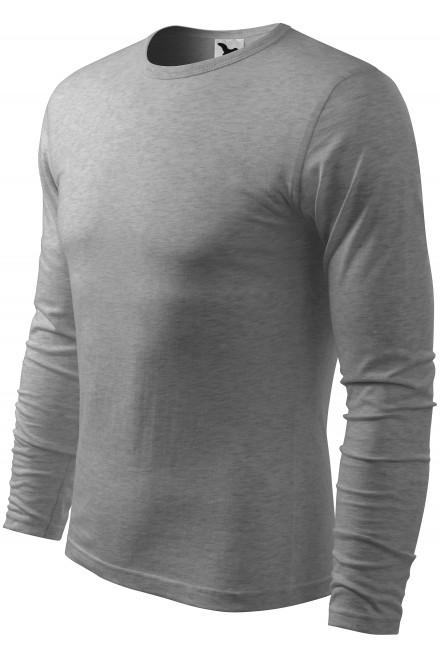 Men's long sleeve T-shirt Dark gray melange