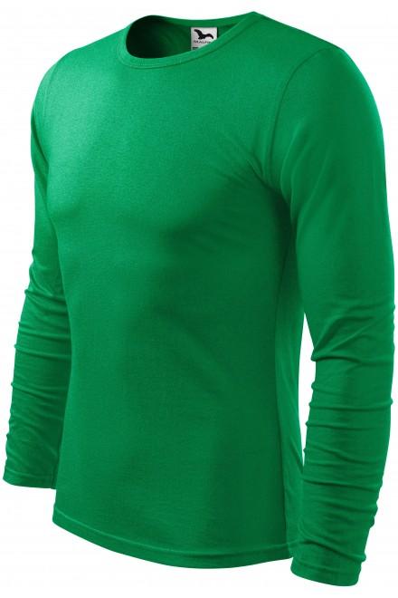 Kelly green men's long sleeve T-shirt