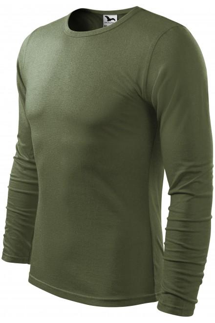 Men's long sleeve T-shirt Khakifarbenes