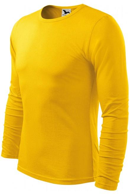 Men's long sleeve T-shirt Yellow