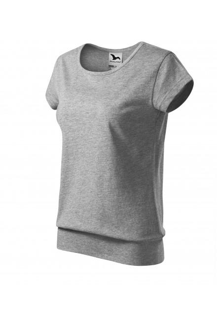 Ladies trendy T-shirt Dark gray melange