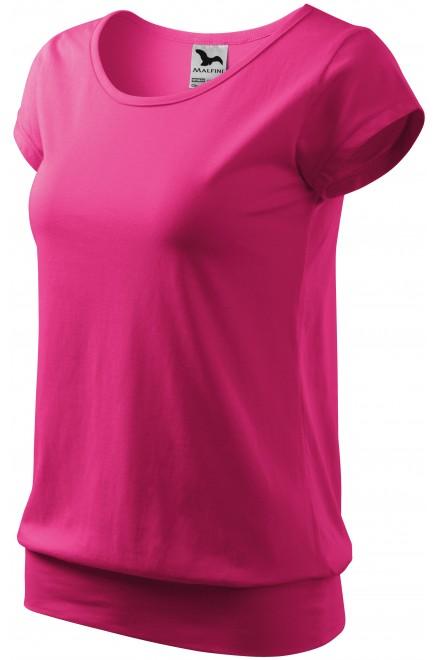 Ladies trendy T-shirt Magenta