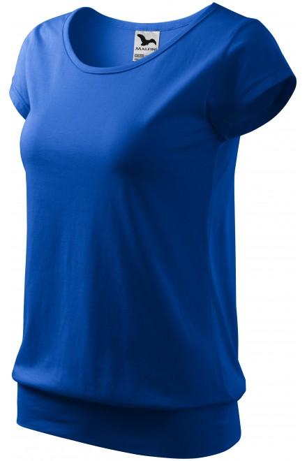 Ladies trendy T-shirt Royal blue