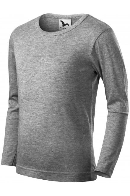 Childrens long sleeve shirt Dark gray melange