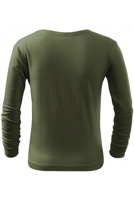 Khakifarbenes childrens long sleeve shirt