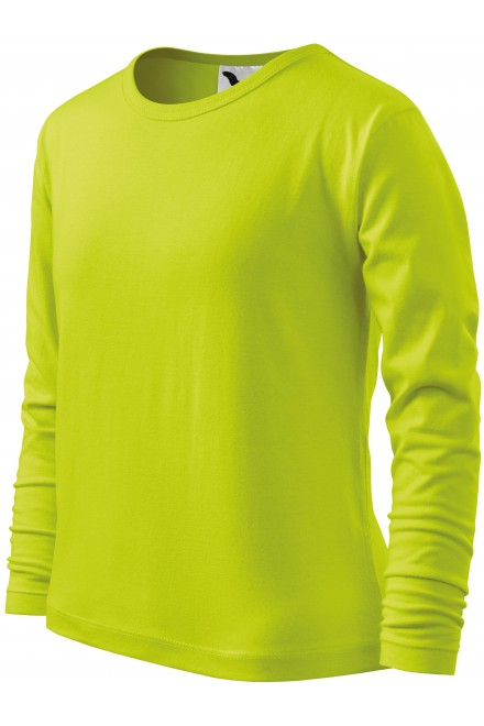 Childrens long sleeve shirt Lime green