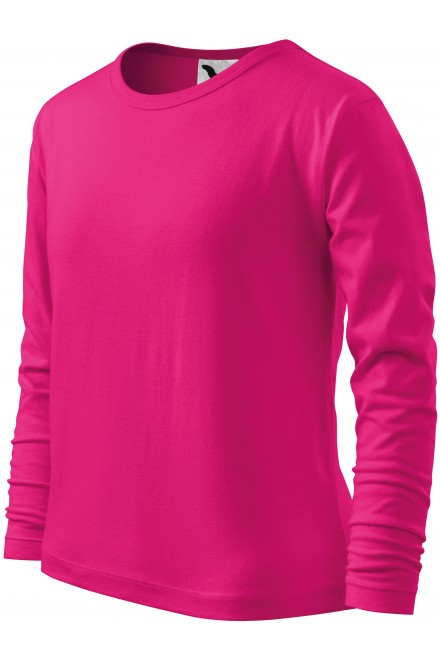 Childrens long sleeve shirt Raspberry pink