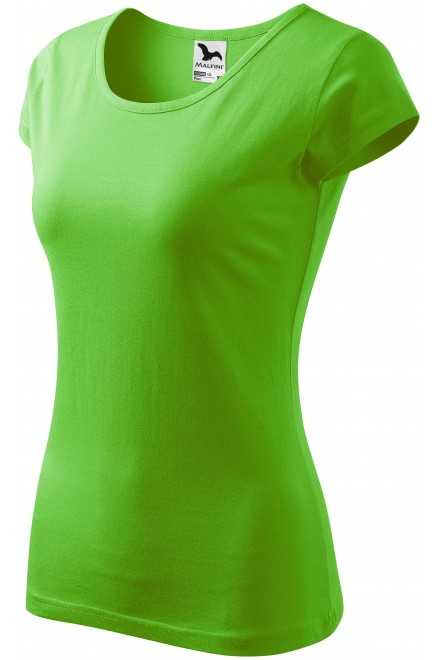 Ladies T-shirt with very short sleeves Apple green