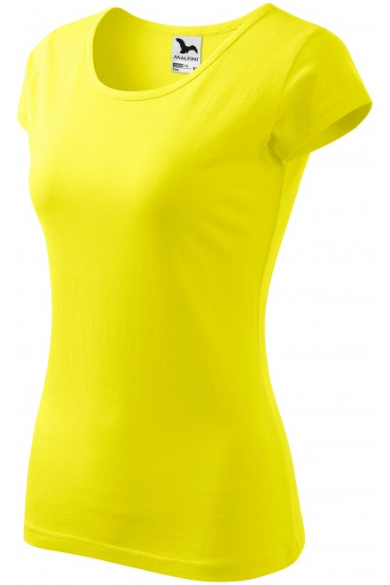 Ladies T-shirt with very short sleeves Lemon