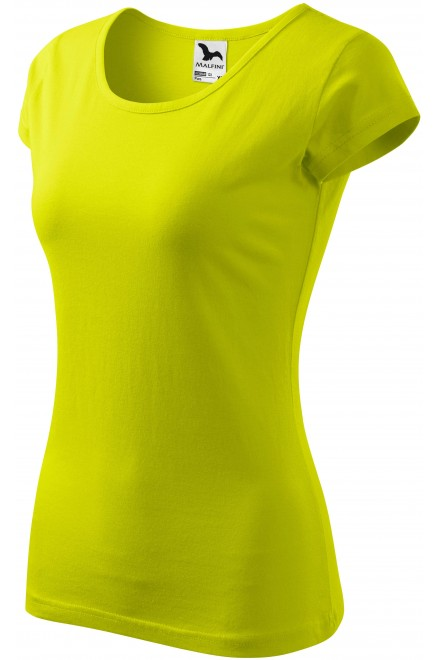 Ladies T-shirt with very short sleeves Lime green