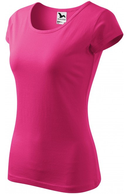Ladies T-shirt with very short sleeves Magenta