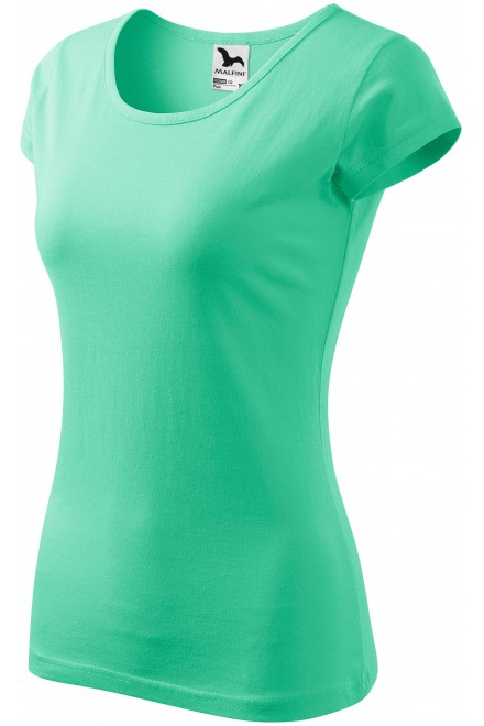 Ladies T-shirt with very short sleeves Mint