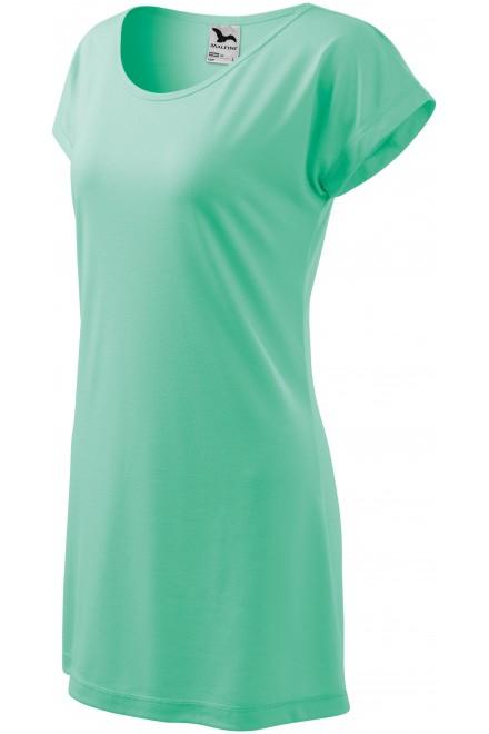 Ladies long T-shirt/dress Mint