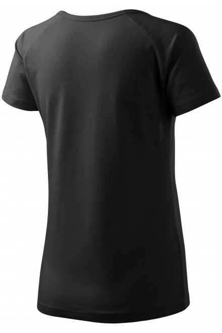 Black ladies T-shirt with raglan sleeve