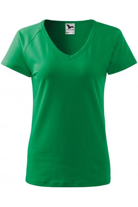 Kelly green ladies T-shirt with raglan sleeve