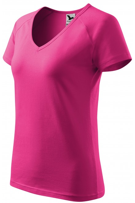 Ladies T-shirt with raglan sleeve Magenta