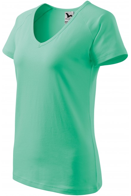 Ladies T-shirt with raglan sleeve Mint