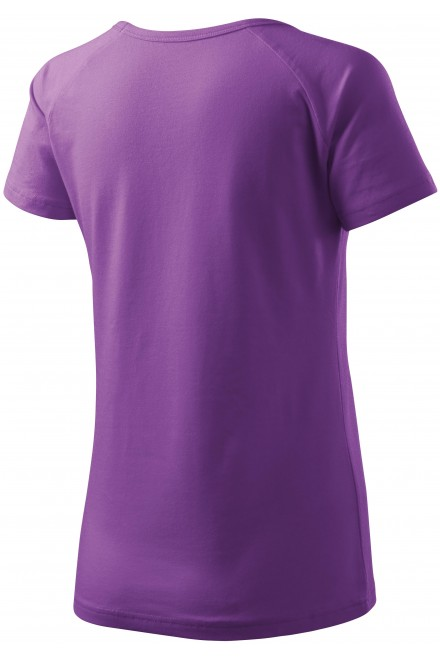 Purple ladies T-shirt with raglan sleeve