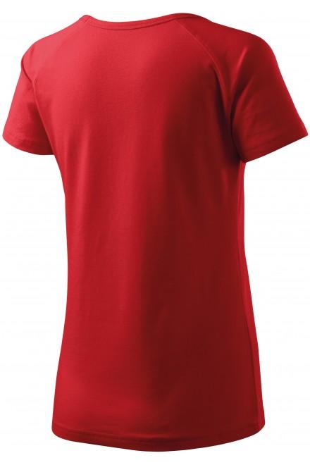 Red ladies T-shirt with raglan sleeve