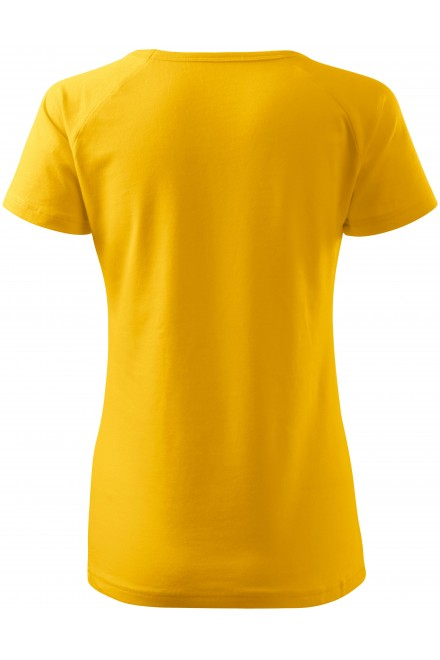 Yellow ladies T-shirt with raglan sleeve