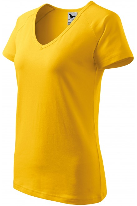 Ladies T-shirt with raglan sleeve Yellow