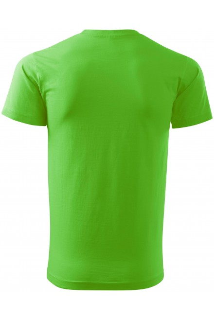 Apple green men's simple T-shirt