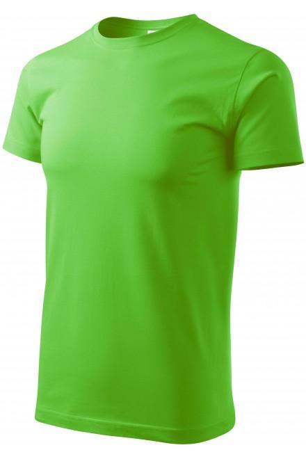 Men's simple T-shirt Apple green