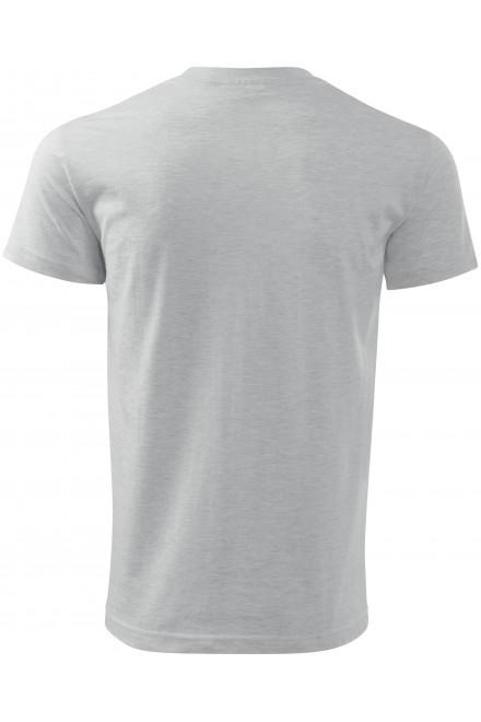 Ash melange men's simple T-shirt