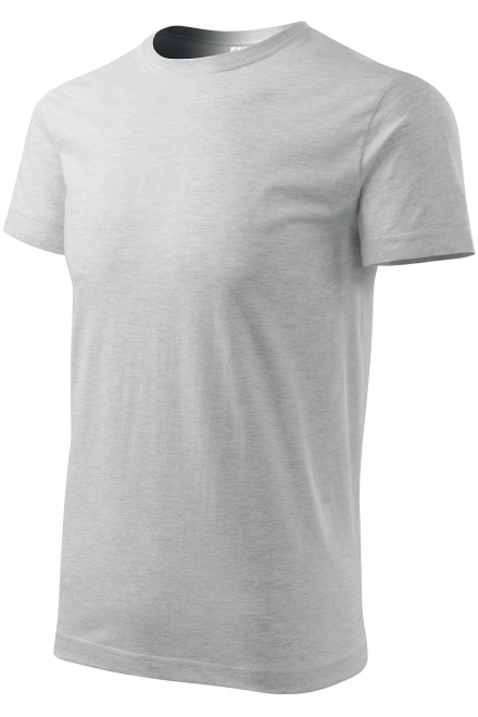 Men's simple T-shirt Ash melange