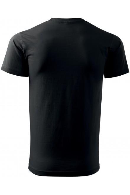 Black men's simple T-shirt