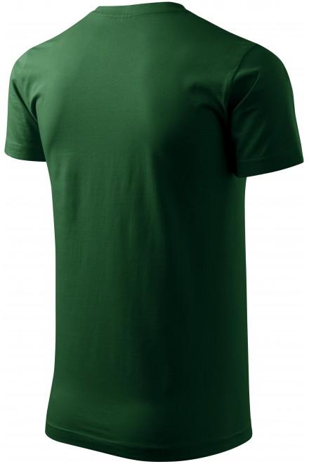 Bottle green men's simple T-shirt