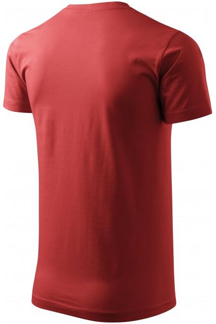 Burgundy men's simple T-shirt