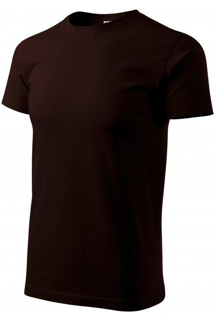 Men's simple T-shirt Coffee