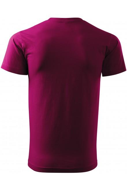 Fuchsia red men's simple T-shirt
