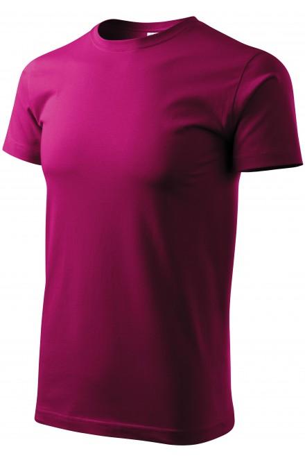 Men's simple T-shirt Fuchsia red