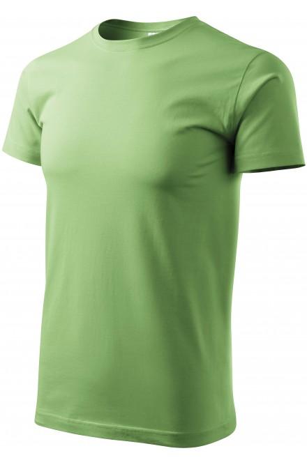 Men's simple T-shirt Grass green